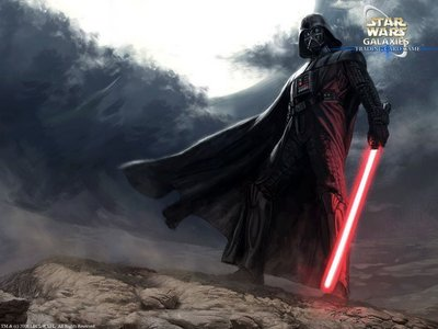 my kegemaran sith Lord is Darth Vader he's the dark lord of the sith after