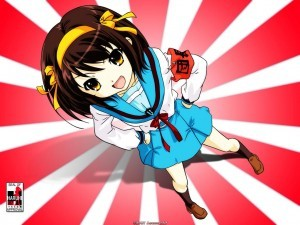 "Actually she's Haruhi from ""melancholy of haruhi suzumiya"""