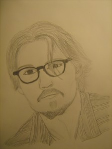 My drawing of Johnny Depp