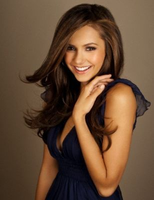 nina dobrev hair color. nina dobrev hair curly.