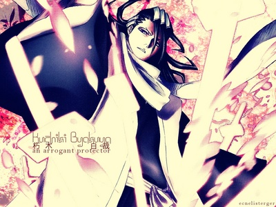 ok i kno im not a guy but i picked him strictly to use his bankai(its awsome) and hes cool too. Um others orihime mercury oh ryoko theres a lot lol. But byakuya would be my first choice. And آپ didn't say anything about gender lol^^ :)