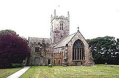 Uh .... Earth , Houghton Le Spring England . This is our church , St . Michael's and all angels .