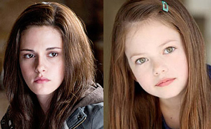 She's a little too old. But,she does look exactly like Kristen. And I heared that they're going to use CGI to make Mackenzie look younger than older for later scenes. Because, Nessie develops faster.