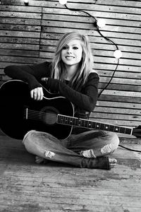 "Avril is one of those talanted musicians in the world who knows what is Music. She can totally define real संगीत through her songs. Almost all of us can relate her songs with our life. And that's a positive point of a good musician. She can sing, write, play instruments. She is one of the greatest inspiration from which a particular person can be inspired. She's been living her life normally alike everyone in the universe and has been describing it through her music. Nowadays, I can barely find good संगीत around. Her songs have depth. They have some meaning unlike Miley's and Beiber's songs(No offence please). She's proud to be herself. She's always been inspiring me. Not only through her music, her way of living has inspired me a lot too. Avril taught me, how to be 'Me', and not to get afraid to be 'Me'. I've been following her stuff since I was 6 years old. There comes many ups and downs in our life and at that time only Avril was with me. It sounds weird and all but this is true. I never thought that Avril, whom I have NEVER met, whom I haev just known from her songs, videos, pictures and all, would inspire me this much. I like her for being herself and for strong opinions, Avril isn´t ""only"" a singer to me, I also प्यार her as a person. She has influenced my life. Well that was all about me. Some people, some of her प्रशंसकों changed when she released her 3rd record 'The Best Damn Thing'. They thought that Avril was never ever the same. But, they were totally wrong. Avril is still the same personality because I can feel that. She was just enjoying her life and was happy in it, so she released her so called 'Girlie' album. So what? I hate this. It's her life, she can't always be sad and all. So she made a jumpy album. That's all. Well her upcoming album 'Goodbye Lullaby' is gonna be great. Because it's alike her first two albums. With deep meaning, depth, emotions and the songs are और mellow. So, the conclusion is - Avril's amazing. And I'm totally obsessed with her. ""Don't like me for who I am? Than आप don't like me for who I am. Than all you're gonna get is ' Who I Am?'"" - Avril Lavigne"