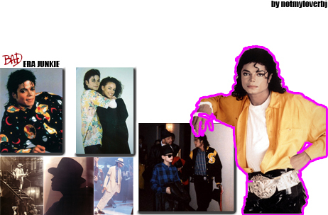 I HAVE A LOT OF PITCHUTES OF MJ IN THE BAD ERA BECAUSE THAT IS MY পছন্দ ERA AND I HAVE A CUT OUT OF HIM IN THE BAD ERA AS WELL I JUS CANT COUNT THEM ALL