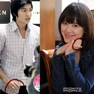 lee min ho's girlfriend is koo hye sun. :)