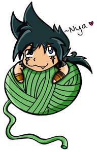 Who are you? ._. Well right now I'm watching Beyblade – Con quay truyền thuyết Metal Fusion. ^_^ Below is Kyouya with yarn.
