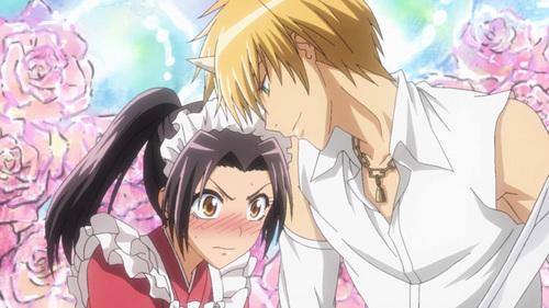 when misaki blushes:)