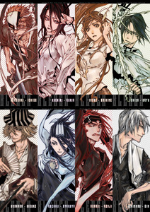 I like Ichigo,Rukia,Orihime,Uryu,Urahara,Byakuya,Renji,and जिन