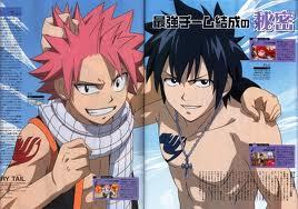 I would be in Fairy Tail,Soul Eater,and Bleach! These dudes r Natsu and Gray from Fairy Tail