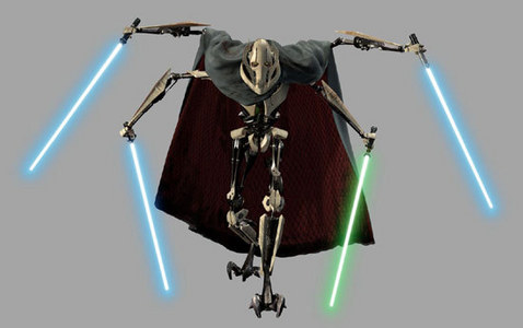 I think Darth Vader is, but he's already taken so I'm going to pick General Grievous. I just think he's cool.