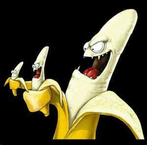 i hate bananas! they are so yellow and they jst freak me out loll