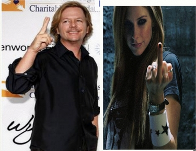 avril lavigne and david spade. He's hilarious, she's my all time Favorit singer, so they are my all time Favorit people. Also Avril sort of reminds me of myself, attitude and style wise, and david spaten reminds me of one of my best guy friends. Sorry for the crappy quality.