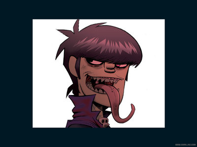 Murdoc from the band Gorillaz. =D He's beast. amor 'The Fall.' The song 'Hillbilly Man' is my favorito! at the moment. ...But if I had to choose between the two, Harry I suppose. He's cool and all, but I don't care for him much. =/ The HP universe has tons of characters, that's one of the things that's awesome about the series.