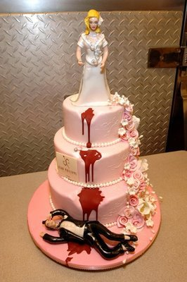 Well, isn't this a lovely wedding cake....