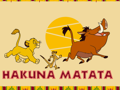 Mines Hakuna Matata :3 I changed it cuz it got stuck in my head all দিন yesterday and it means no worries.. হাঃ হাঃ হাঃ :P