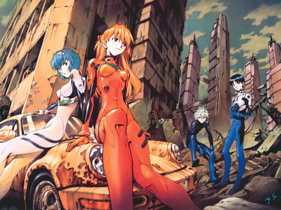 Evangelion most of the time ^^
