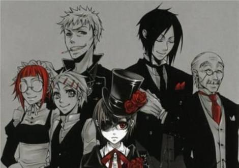 Kuroshitsuji, aka Black Butler. It's really good, kind of a dark জীবন্ত at times, but still really interesting. :)