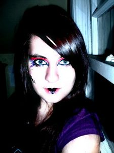 Unique :) ...yes that is me with my crazy make up. This is what I do when I'm bored and make up is near me... xD