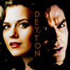 DAMON AND PEYTON  ( TVD and OTH )  cause they are both tortured and damaged by love and by the people they cared about  icon by me