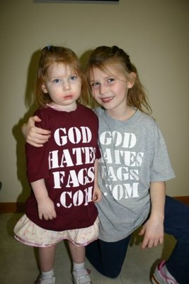 I hate this. Not just the message on the shirt. The fact that these kids are being raised to be homophobic. Children aren't born with homophobia, and I think it's disgusting and wrong that parents are doing this to their kids. Breeding ignorance and encouraging blind hatred.