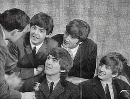 The Beatles (at an interview) because they're awesome :) ME AND MY EMOTICONS~
