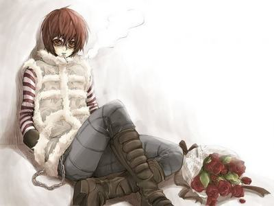 My आइकन is of Matt, from Death Note - the best character who ever walked in and out of a series in eighteen panels. I chose it because at the time I was going through difficult stuff and Death Note was really helping me with it, and Matt's my प्रिय character from the manga. I was considering changing it because I'm also really into नारूटो now, but I'm not sure... I still प्यार Mattie. <3 Isn't he cute?