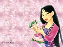 Mulan. I'm not sure though, but she was the first character that came to mind. I think she's seriously beautiful. :)
