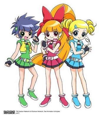 Princess Aurora from Sleeping Beauty Miyako,Momoko and Kaoru from Powerpuff Girls Z