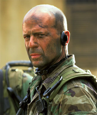 Bruce Willis even though i dont fancy him!
