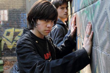 The one in the front; Eli Goldsworthy played sejak Munro Chambers on Degrassi <3