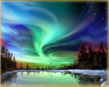 I went to the Northpole to see the mystical Northern Lights, Aurora Borealeas. it was beautiful. :) <3