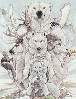 I Liebe ANIMALS! and, being part indian... I Liebe INDIAN STUFF! so...here's some spirit animals! (4 all the Dee Dee Dee's out there...those r white Tiere and they r Tiere that r not normally white)