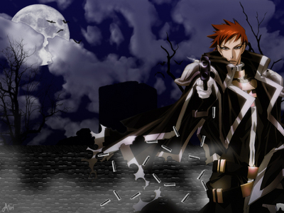 Tres from Trinity Blood, he's incrediable plus cute!