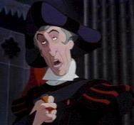 Claude Frollo. And Bill from L4D, but that's thêm video game than cartoon