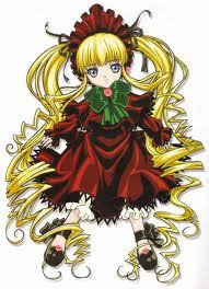 I actually I thought she looked like Shinku from Rozen maiden (they have the same look, both act a bit bratty, and have a guy that does what ever they can to protect them XD)