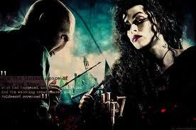 Of course, she totally blows her own husband off for him. Bellatrix spent years in Azkaban for him and is always trying to get close to him.