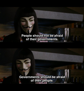 If ENOUGH people were brave enough to come together, we could all overthrough the government. Anarchy FTW.
