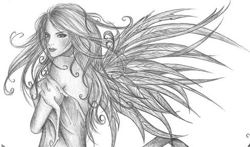 I like drawing... angels... <3