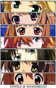 Crush... is too harsh word for me. I would say that I am in love... with 2 characters that is. Saber from Fate/stay night Aisaka Taiga from Toradora... Other girls from my tuktok 100 listahan are mostly just liked or as you sinabi I have crush on them.