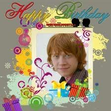 Screw that. Today is Ron's birthday: