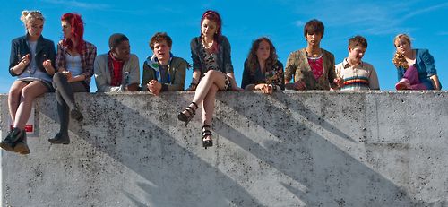 Skins. V This is the Sekunde generation cast. :)