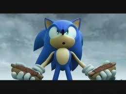he likes chili dog this picture is from sonic and the black night