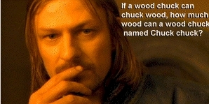 I don't really give damn. But, Boromir has the same question!