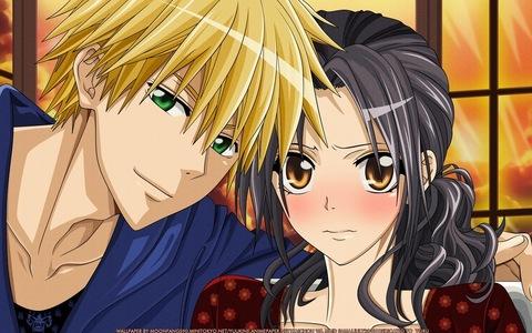 Usui and Misaki from Kaichou wa Maid-sama!