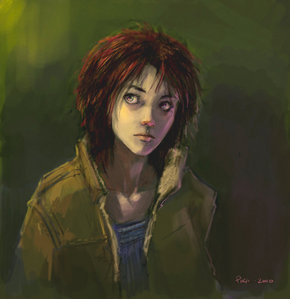 Upon seeing this, i found it to be very beautiful. It looks almost like a portrait of my sister, only with shorter hair.