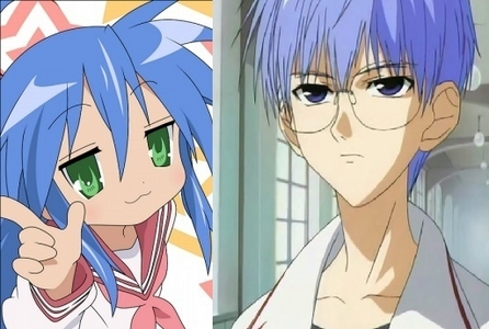 Konata Izumi from Lucky Star, She's so freakin adorable!!! And the cutie susunod to her is Satoshi Hiwatari from D.N.Angel.