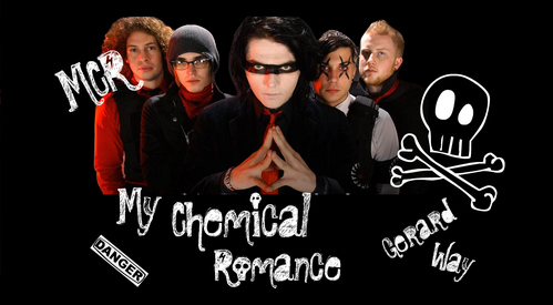 I like a lot of bands and singers but my #1 fave band is My Chemical Romance and my 2nd fave is The Black Dahlia Murder >:) *btw I made the pic myself..well it's actually a वॉलपेपर ^^*