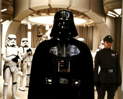 Darth Vader- I even have a crush on him. yeah I know a little odd...but whatever.