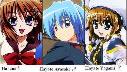 Well... My absolute 收藏夹 that start with H I can think of are... Haruna from Kore wa Zombie Desu ka?, Hayate Ayasaki from Hayate no Gotoku!, and Hayate Yagami from Magical Girl Lyrical Nanoha.